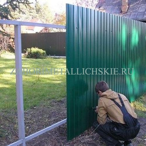Профнастил забор монтаж ворота откатные в 44м